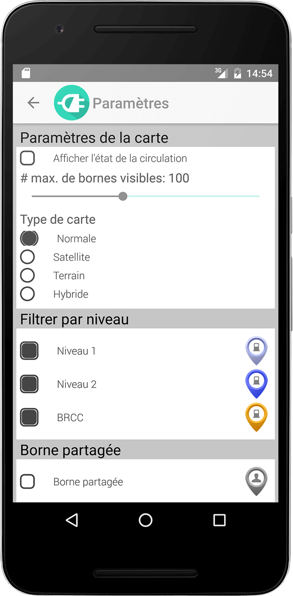 ChargeHub Android station details screenshot