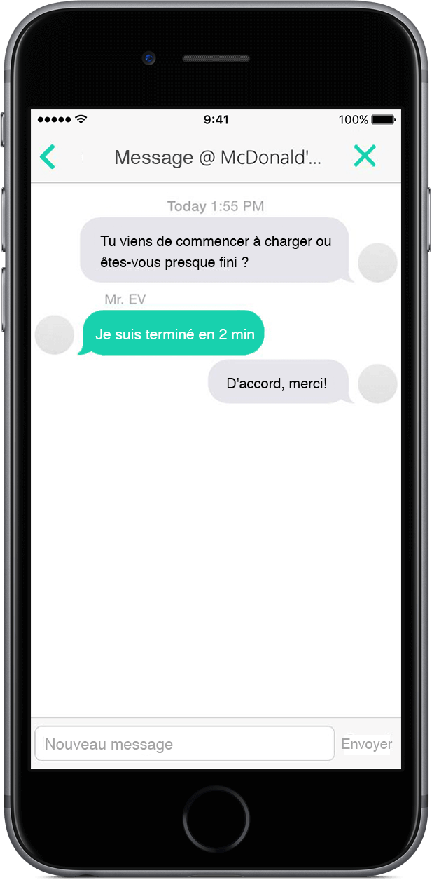 ChargeHub iOS in app messaging