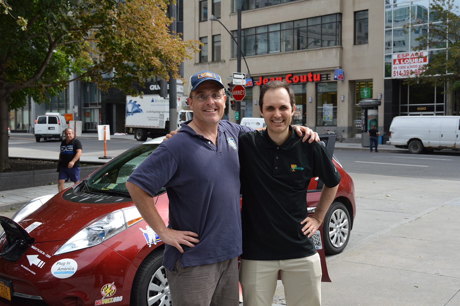 Brian with Simon Ouellette, ChargeHub CEO