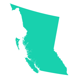 Silhouette of British Colombia