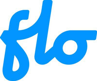 FLO logo - electric vehicle charging network logo